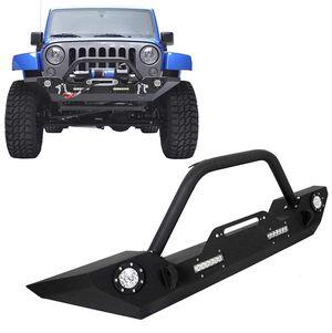 Front Bumper W/Winch Plate & LED Lights D-rings for 2007-2018 Jeep Wrangler JK, Rock Crawler Front Bumper for Sale in Hialeah, FL