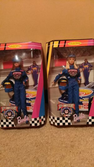 Barbie Collectibles Dolls NASCAR 50th Anniversary for Sale in Westminster, MD