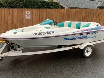 1996 Seadoo Challenger 5 seaters, Bombraider, running great for Sale in Snohomish,  WA