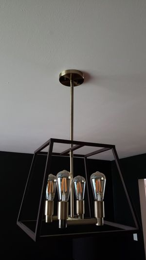 27h x 15w Chandelier with bulbs for Sale in Ballwin, MO