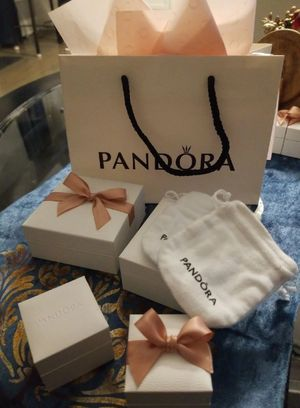 Pandora bags boxes and pouches with tissue paper for Sale in HOFFMAN EST, IL