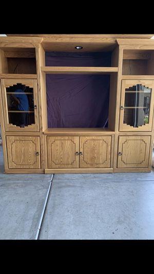 OAK ENTERTAINMENT CENTER for Sale in Phoenix, AZ