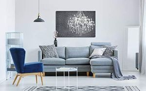 ((FREE SHIPPING)) crystal clear chandelier on grunge background with floral pattern modern home decor Painting like print for Sale in Redwood City, CA