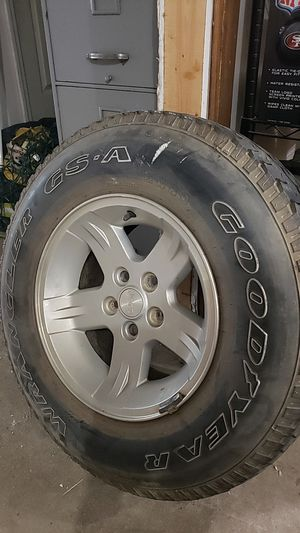 Set of 5 Jeep Wrangler TJ wheels/tires for Sale in Beaver Falls, PA