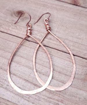 Hammered Copper Teardrop Earrings for Sale for sale  Rolling Hills Estates, CA
