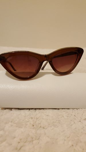 WOMEN SUNGLASSES : COROLINA LEMKE (BERLIN),COLOR: BROWN $60.00 for Sale in Des Plaines, IL