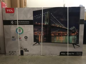 55R617 55 TcL roku smart 4k Led uhd hdr tv for Sale in Fontana, CA