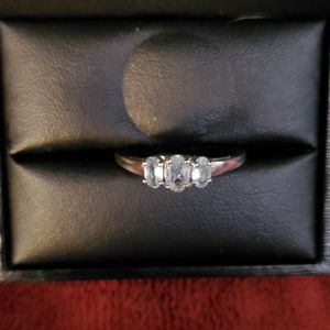 Beautiful Sterling Silver 925 Aquamarine Ring Size 10 Stamped for Sale in Virginia Beach, VA