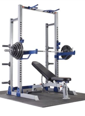 🤩🤩🤩Brand New!!! Fitness Gear Pro Half Rack With Bench & 300lbs set 🤩🤩🤩🤩 for Sale in Miami, FL