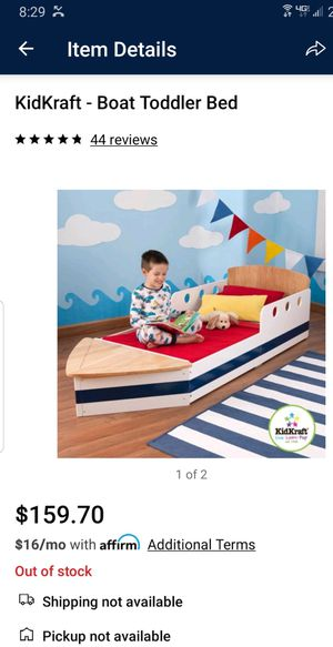 Awesome Boat Toddler Bed for Sale in Vancouver, WA