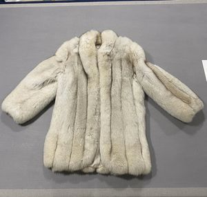 Mid Length Real Fur Coat, White for Sale in Chicago, IL