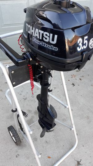 Tohatsu 3 1/2 HP LONG SHAFT 4 STROKE OUTBOARD MOTOR for Sale in San Diego, CA