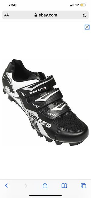 Venzo Mountain Bike Bicycle Cycling Shimano SPD Shoes Black for Sale in Levittown, PA