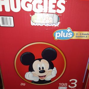 Huggies litter Movers Size 3 198 Diapers $45 for Sale in Los Angeles, CA
