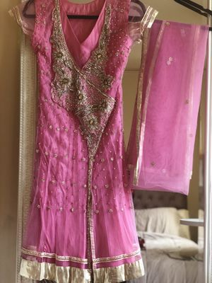 Jeweled Pink Indian Anarkali Set for Sale in Washington, DC