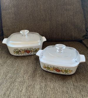 2 CorningWare Dishes w/ Pyrex Lids—Spice of Life for Sale in Vienna, VA