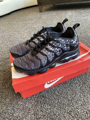 Nike Air VaporMax Plus 'Geometric' Black Men's Size 10.5. Worn once for Sale in Clovis, CA