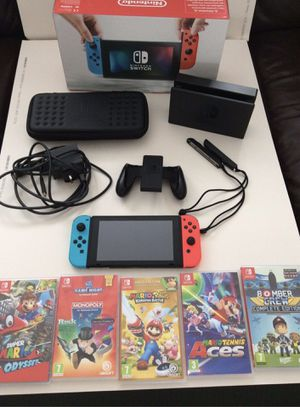 Nintendo Switch Bundle Neon With Games&accessories for Sale in Candler, FL