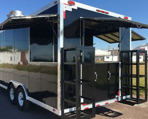 """2"""" FIBER GLASS BLACK FOOD CATERING TRAILER r qw for Sale in Fitchburg, WI"""