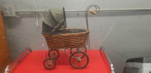 Antique dolls wicker carriage for Sale in Orange, CA