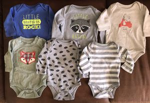 Boys Long Sleeves Onesie Lot for Sale in Chandler, AZ