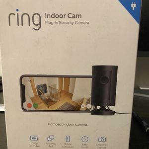 Brand New Ring Indoor Security Camera Black for Sale in Dinuba, CA