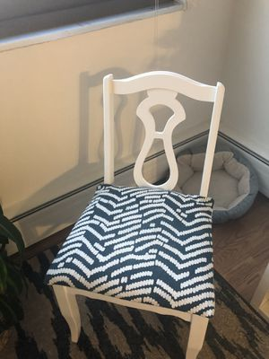 White wooden chair for Sale in Chicago, IL