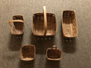 $20 - 5 Longaberger Baskets for Sale in St. Louis, MO