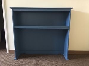 Blue office desk + Bed board (can be sold separately) for Sale in St. Louis, MO