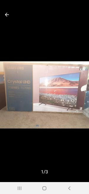 """Samsung, Crystal UHD - SMART TV 58 """" Brand New for Sale in Grand Prairie, TX"""