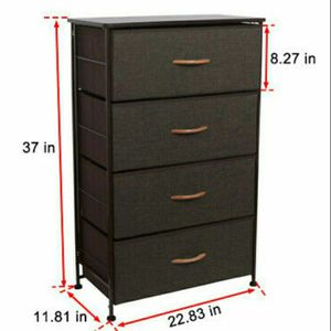 Fabric 4 Drawers Storage Organizer Storage Closet End Table for Bedroom Coffee for Sale in North Las Vegas, NV