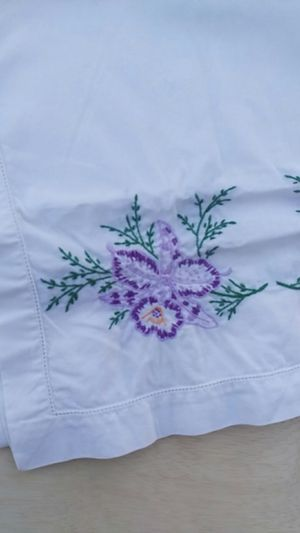 Gorgeous Orchid Embroidered Table Runner for Sale in Santa Ana, CA