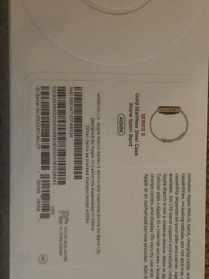 Apple Watch series 5 Gold stainless steel case stone sport band for Sale in Germantown, MD