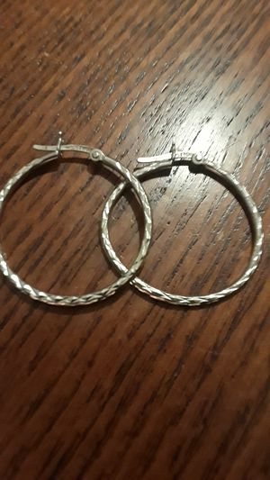 Gorgeous Sterling Silver 925 hoops for Sale in Queens, NY