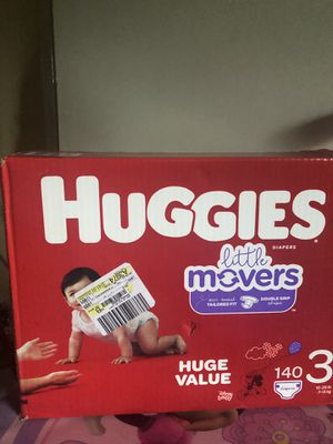Huggies little movers size 3 (140 DIAPERS)- -$30 !! for Sale in Riverdale, GA