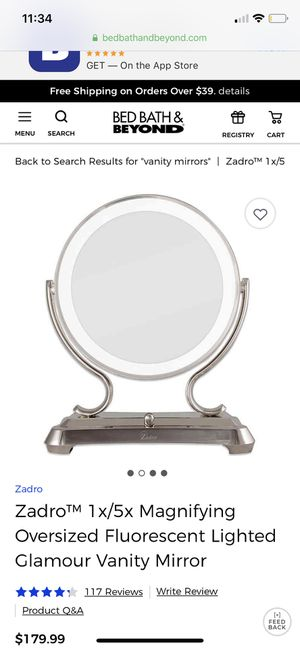 Zadro vanity makeup mirror for Sale in Palos Hills, IL