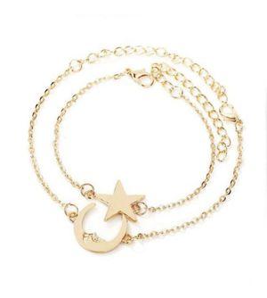 Star & Moon Design Chain Bracelet Set 2pcs for Sale in Tampa, FL