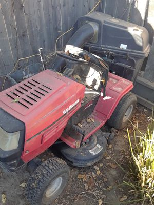 Riding lawn mower, echo weed eater, compressor saco palms for Sale in Fresno, CA