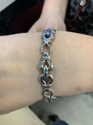 Lagos Silver and Stainless Steel Bracelet for Sale in Alexandria, VA