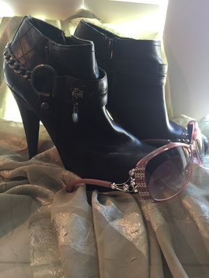 BLACK GUESS ANKLE BOOTS + FREE Bling Bling!!! for Sale in Austin, TX