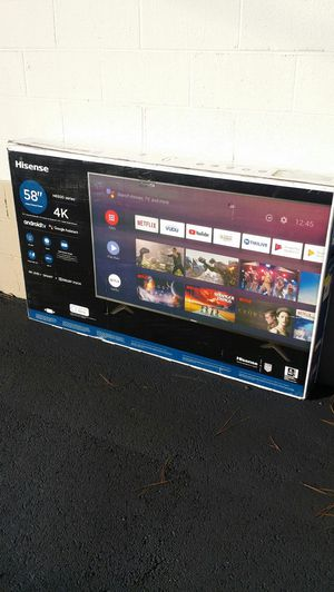 Price firm brand new 58 inch Hisense 4K smart no Trading for Sale in Winston-Salem, NC