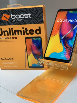 LG STYLO 5 FREE WHEN YOU SWITCH TO BOOST MOBILE for Sale in Corona, CA