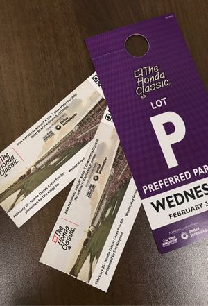 Honda Classic Tickets Wednesday & Parking for Sale in Boca Raton, FL