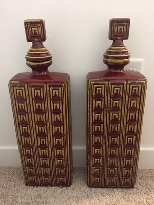 Set of 2 tall apothecary jars. for Sale in Saratoga Springs, UT