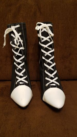 Ladies womens sexy referee racer Halloween costume shoes boots Size 10 for Sale in Cedar Park, TX
