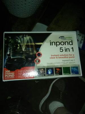 INPOND 5 IN 1 FILTER, PUMP, FOUNTAIN, LED, UV CLARIFIER. Aquagarden. NEW IN BOX! for Sale in Renton, WA