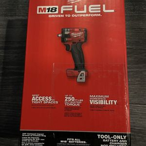 """New Milwaukee 2854-20 M18 FUEL 3/8"""" Compact Impact Wrench w/ Friction Ring TOOL ONLY for Sale in Brooklyn, NY"""
