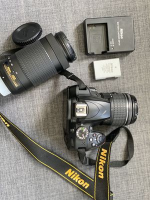 Bundle: Nikon D3400 + 2 lenses + rechargeable battery + battery charger for Sale in Brooklyn, NY