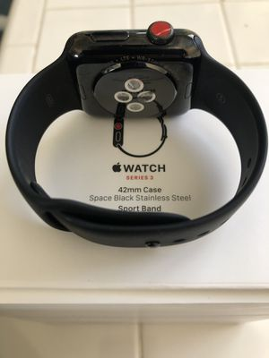 Apple Watch series 3 Black stainless steel 42mm for Sale in Durham, NC