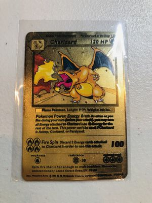 CHARIZARD POKEMON METAL CARD for Sale in Fullerton, CA